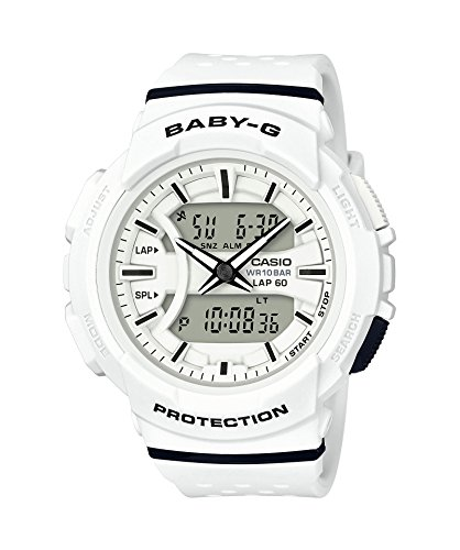 Casio Women's Baby G BGA240-7A White Resin Japanese Quartz Diving Watch