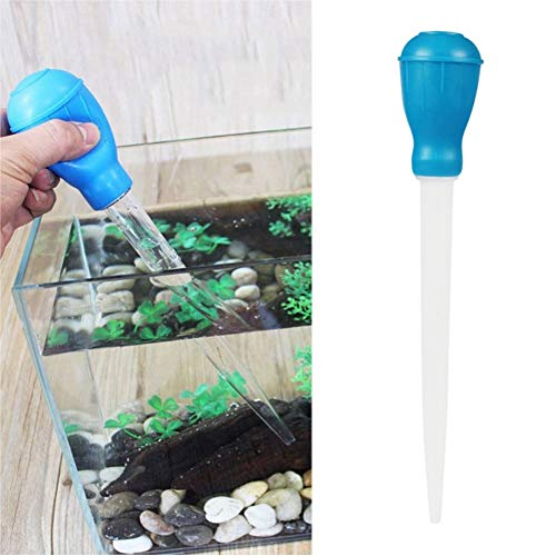 (Baost 1Pc Pipette Dropper Aquarium Fish Tank Cleaner Coral Feeder Waste Remover Changer Gravel Cleaning Suction Pipe Pump Siphon Water Aspirator Liquid Droppers Feeder)