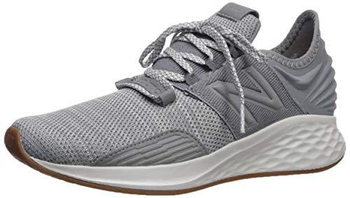 New Balance Boys' ROAV V1 Fresh Foam Running Shoe, Gunmetal/White, 7 M US Big Kid ()