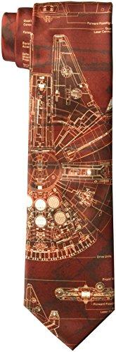 Star Wars Men's Millennium Falcon Tie, Red, ()