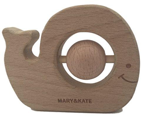 Wooden Baby Rattle - BPA-free Montessori Toy - Organic