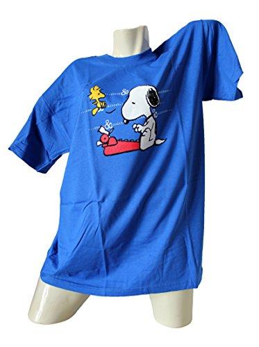 Die Peanuts T-Shirt Snoopy & Woodstock mit Schreibmaschine Größe XXL