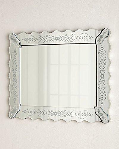 Buy Venetian Design Petite Fleur Venetian-Style Mirror | Get 2 photo ...