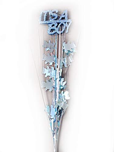 - Party Deco 3 Pcs It's a Boy Royal Blue Bears Onion Grass Spray Metallic Pick 24 inches Long