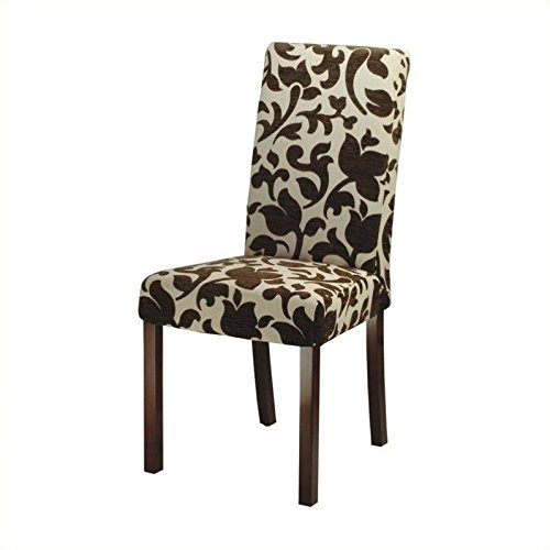 Safavieh Hudson Collection Side Chairs, Chelsea Cream and Brown, Set of 2