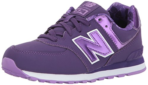 New Balance Kids KL574 Sneaker, Purple, 1 W US Little Kid