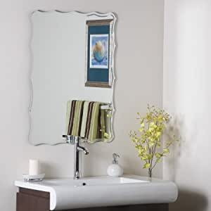Decor wonderland ssm1058 liana frameless wall for Bathroom decor on amazon