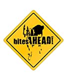 Welsh Springer Spaniel Bites Ahead! centrado - Dogs [ Decorative Crossing Sign Wall Plaque ]