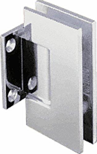 CRL Geneva Series Satin Chrome Wall Mount Short Back Plate Hinge (Standard Model)