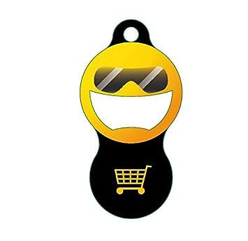Zami-Design abziehbarer ficha para el Carro de la Compra de Metal – Llavero abrebotellas – Tipo: Sunny 2