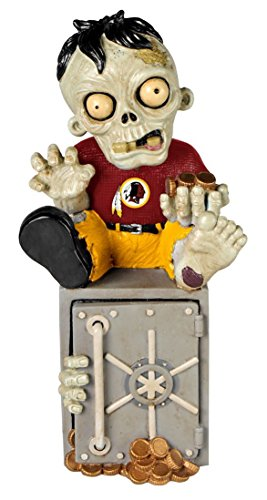 Forever Collectibles Washington Redskins Zombie Figurine Bank