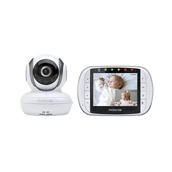 Motorola Baby Remote Wireless Video Monitor with 3.5-inch Colour LCD Screen, Camera Pan, Tilt, and Zoom