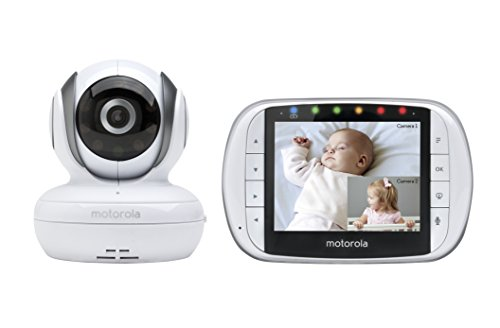 Motorola MBP36S Remote Wireless Video Baby Monitor with 3.5-Inch Color LCD Screen, Remote Camera Pan, Tilt, and Zoom by Motorola Baby