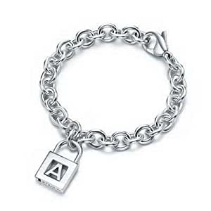 Tiffany And Co Bracelet Letter A Lock Charm Silver 170