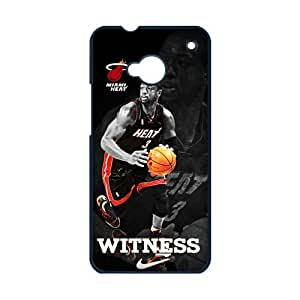 diycover NBA Miami Heat Dwyane Wade HTC One M7 Case Cover Witness Wade HTC One Case