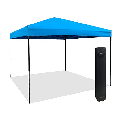 Gazebo Foldable (Le Papillon 10 x 10 Feet Instant Foldable Outdoor Pop UP Canopy with Roller Bag, Sky Blue)