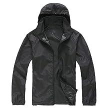 Alafen Unisex Lightweight Waterproof Sun Protection Jacket Skin Windbreaker