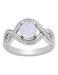 Banithani 925 Sterling Silver Moonstone Wonderful Women Ring Band Fashion Jewelry