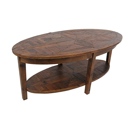 Alaterre Renew Reclaimed Oval Coffee Table, Natural (Wood Oval Table Natural)