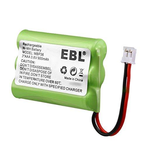 2 Pack EBL TFL3X44AAA900 Motorola Baby Monitor Batteries 3.6V 900mAh Ni-MH for Motorola MBP36 MBP27T MBP33 MBP33S MBP33PU MBP36S MBP36PU by EBL (Image #4)