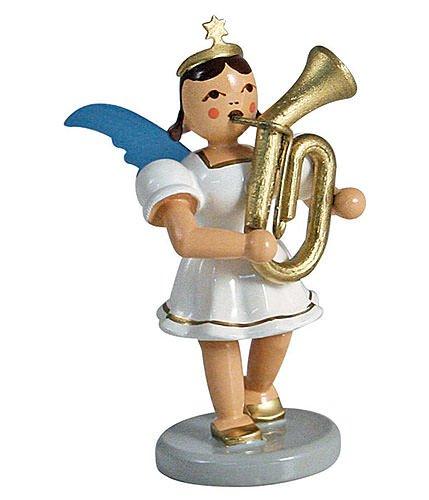 german-christmas-angel-short-skirt-colored-tenor-horn-66cm-25inch-blank-kunsthandwerk