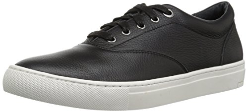 206 Collective Men's Olympic Casual Lace-up Sneaker, Black Leather, 11.5 D US by 206 Collective