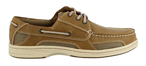 Dockers Men's Waterview Boat Shoe, Light Tan, 8.5 M (Tan Deck)