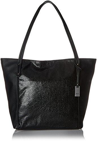 Tom Tailor Denim Helena, Women's Shoulder Bag, Schwarz, 12.5x33x44 cm (wxhxd) (Denim Schwarz)