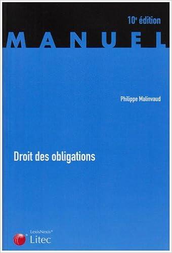 En ligne Droit des obligations (ancienne édition) pdf, epub ebook