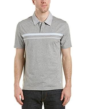 Mens Polo Shirt, M, Grey