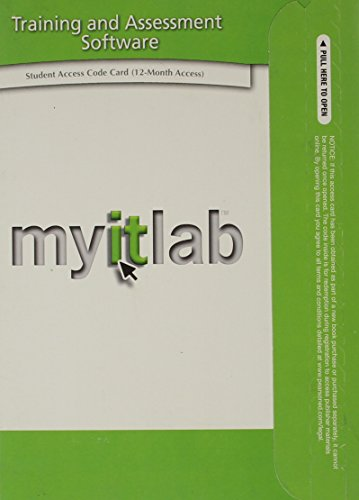 myitlab without Pearson eText -- Access Card -- for Office 2007