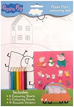 Peppa Pig Colouring Set