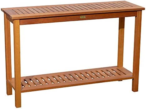 Dty Outdoor Living Longs Peak Eucalyptus Console Table Outdoor Living Patio Furniture Collection Natural Oil
