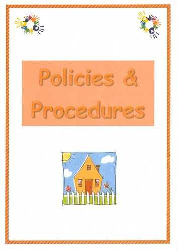 Early Years childminder Policies and Procedures pack Making Childminding Easy