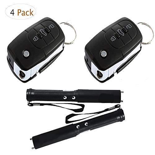 (Swovo Prank Toy Electric Shock Car Key Gag Joke Prank Kit Remote Toy Electric Shock StickGame 4 Pack)