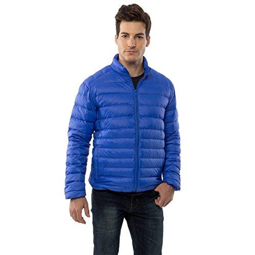 alpine swiss Niko Men's Down Jacket Puffer Coat Packable Warm Insulation & Light BLU MED -