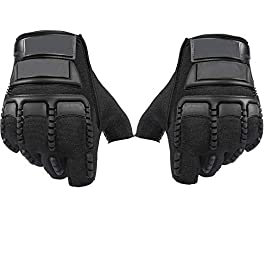 ZaySoo Half Finger Motorcycle Riding Gloves with Wrist Wraps Support for Gym, Workout, Cross Fit, Fitness & Cross…