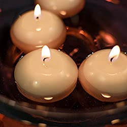 """XYUT Unscented 3"""" Floating Disc Candles - Whi"""