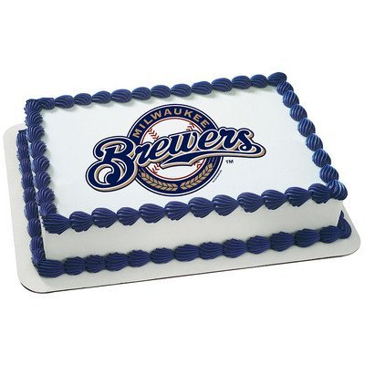 - Milwaukee Brewers Licensed Edible Cake Topper #4671
