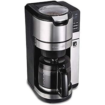 Amazon.com: HKDGID - Cafetera de 4 tazas con molinillo de ...