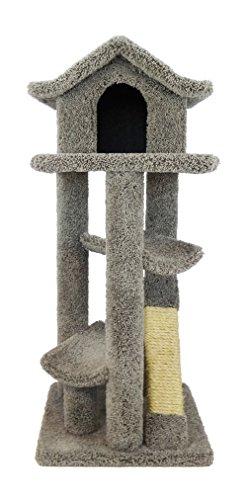 Pagoda Cat Tree - New Cat Condos Premier Large Cat Pagodas Tree, Gray