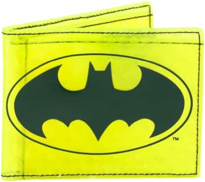 DC Comics Batman Yellow Fat Free Bi-Fold Wallet