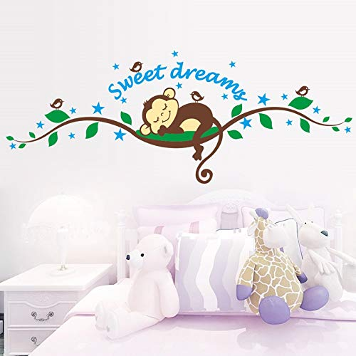 (Best Choise Product Monkey Forest DIY Art Vinyl Quote Wall Sticker Bedroom Decal Mural Wallpaper Nursery Baby Kids Children Room)