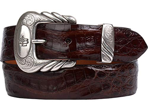 Lucchese Men's W9411 Sienna Belly Caiman Crocodile Casual Belt