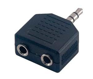 MCL CG-701 adaptador de cable - Adaptador para cable (1x 3.5mm M, 2x 3.5mm F, Macho/hembra, Negro, .)