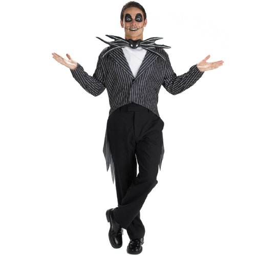 [The Nightmare Before Christmas Jack Skellington Adult Costume - Standard XL - Size 42-46