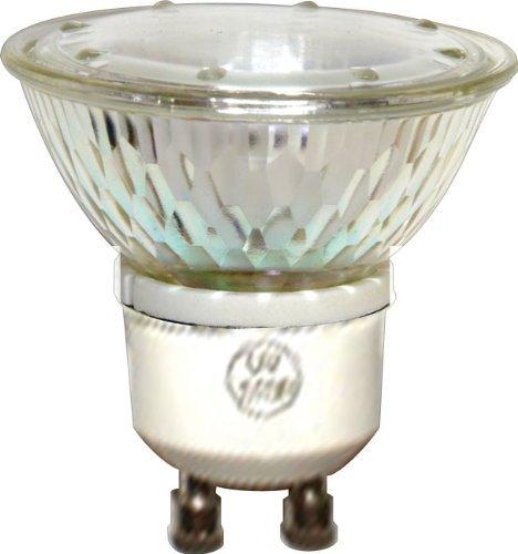 GE 50 Watt MR16 Halogen Light Bulb, Glass Cover, Dimmable, 360 Lumens, 120V, GU10 Base (6 Pack) (Light Mr16 Halogen 10 Bulb)