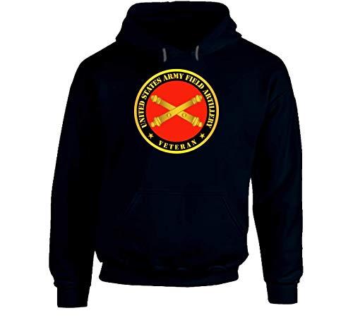 2XLARGE - Army - US Army Field Artillery Veteran w Branch Hoodie - Navy ()