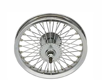 "12"" 52 Spoke Front Wheel 14G Chrome. Bicycle wheel, bike wheel, bike part, bicycle part"