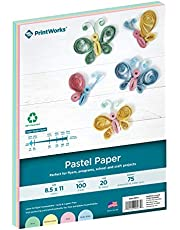 Printworks Pastel Multipurpose Paper, 8.5 X 11-Inch, 20-Pound, Assorted Colors, 30-Percent Recycled, 100 Sheets (00577)